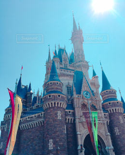 9月の空とシンデレラ城の写真・画像素材[749041]