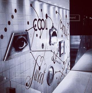 覆われている落書きの壁の写真・画像素材[950495]