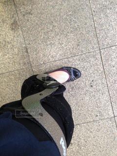 装具を着けた足の写真・画像素材[935013]