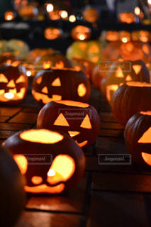 かぼちゃのキャンドルの写真・画像素材[749750]