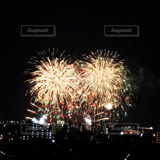 夜空の花火の写真・画像素材[750170]