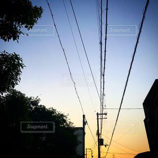 秋の6時前の空の写真・画像素材[750172]