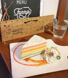 レインボーケーキの写真・画像素材[1396692]