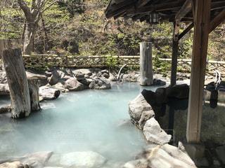 混浴露天風呂の写真・画像素材[753183]