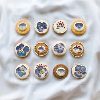 お花のクッキーの写真・画像素材[3052521]