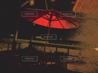 夜のカフェの写真・画像素材[752050]