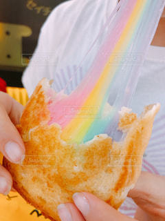 レインボーチーズトーストの写真・画像素材[1817157]