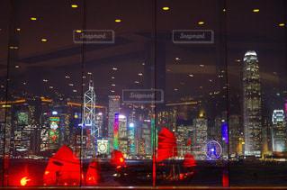 インターコンチネンタルホテル香港からの夜景の写真・画像素材[752545]