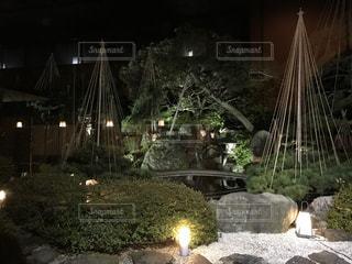旅館の中庭の写真・画像素材[752872]