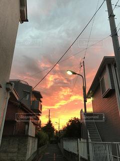 秋の光の街の写真・画像素材[752893]