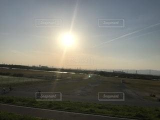 夕日の写真の写真・画像素材[1219315]