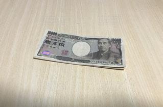 床に福沢諭吉の写真・画像素材[1688474]
