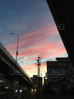 街の通りに信号機の写真・画像素材[806393]