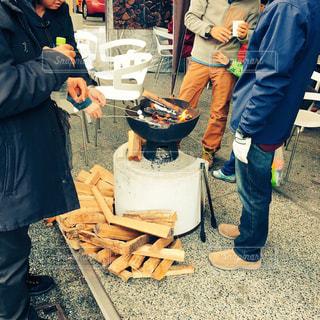 焚き火カフェの写真・画像素材[756978]