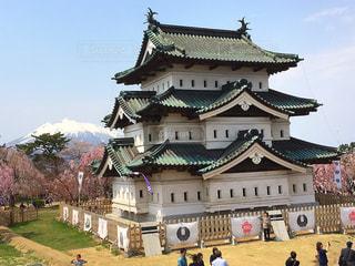 弘前城と岩木山 - No.763828