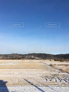 冬の田んぼの写真・画像素材[1703665]