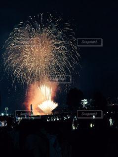 夜花火の写真・画像素材[755938]