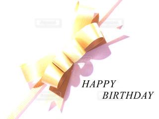 リボンと誕生日メッセージの写真・画像素材[767448]