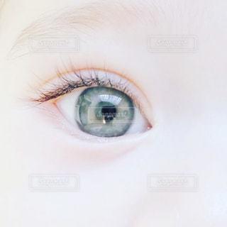 近くに青い目をした赤ん坊のアップ - No.822858