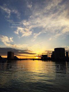 釧路の夕日の写真・画像素材[780917]