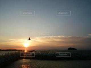 室蘭 大黒島とサンセットの写真・画像素材[799616]