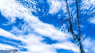 空には雲のグループの写真・画像素材[757986]