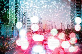 渋滞、東京、新宿。の写真・画像素材[757996]