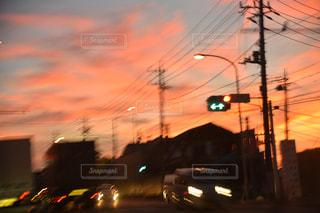茜色な朝の写真・画像素材[758003]