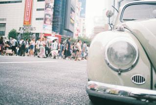 クラシックカーと渋谷の写真・画像素材[758022]