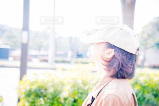 帽子をかぶった女の子の写真・画像素材[758139]