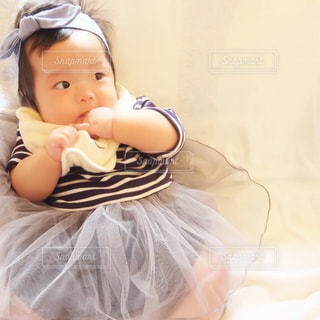 ドレス赤ちゃんの写真・画像素材[758283]