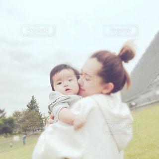 公園にて親子の写真・画像素材[758286]