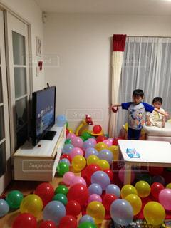 パパのお誕生日準備の写真・画像素材[811483]