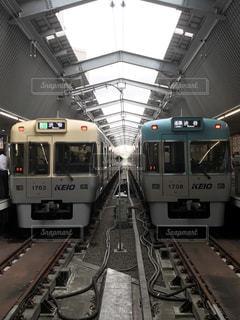 吉祥寺駅で井の頭線を見ました。の写真・画像素材[772462]