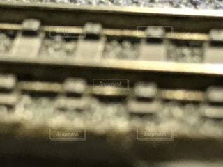 Nゲージの線路の写真・画像素材[809986]