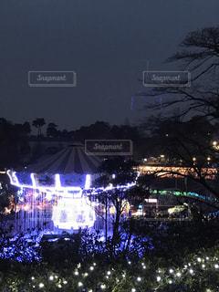 夜の遊園地の写真・画像素材[971705]