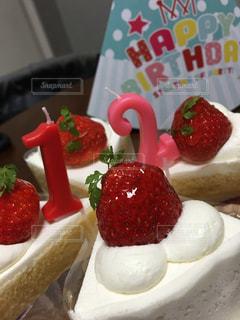 苺のショートケーキの写真・画像素材[760326]