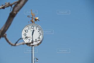 ポールからぶら下がっている時計の写真・画像素材[1661825]