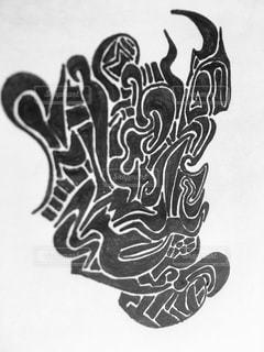 壁の落書きの写真・画像素材[763360]