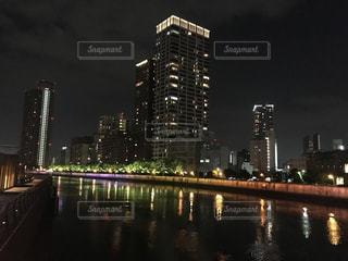 夜の街の景色の写真・画像素材[941313]