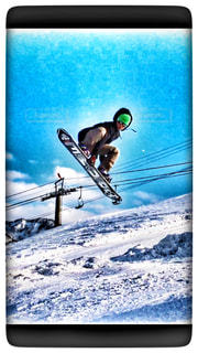 スノーボードで空中ワンショットの写真・画像素材[822525]