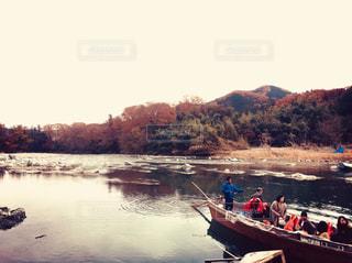 初めての川下りの写真・画像素材[1113201]