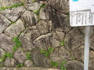 bus stopと石垣 - No.772717