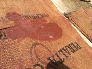 床のマットにしたい珈琲豆の袋の写真・画像素材[1458506]