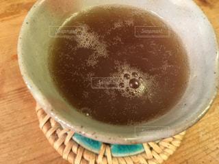 胃が痛い時は葛湯がいいって黒砂糖を入れましたの写真・画像素材[1785870]