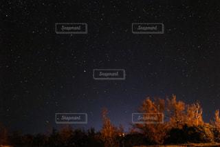夜に見上げる空の景色の写真・画像素材[762479]