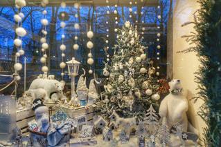 ホワイトクリスマスのディスプレイの写真・画像素材[764406]