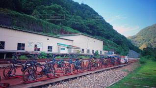 自転車の整列の写真・画像素材[802265]