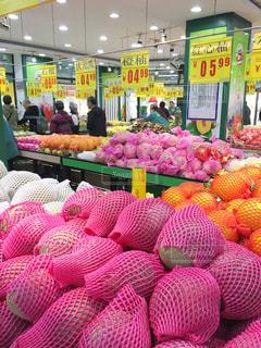 中国のスーパーマーケットの写真・画像素材[820773]
