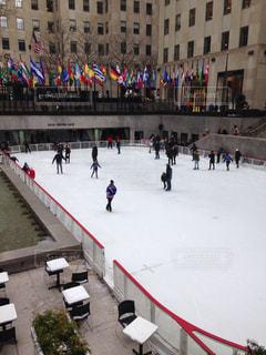 ロックフェラーセンターのアイススケートの写真・画像素材[822935]